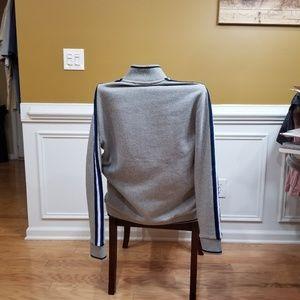 Calvin Klein Sweaters - Calvin Klein Gray Striped Zip Up Sweater